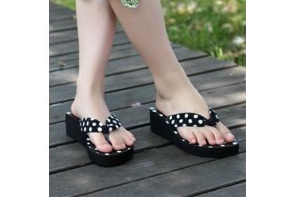 Fashionhomez 106 White Black Dot Slipper ( size 38 )