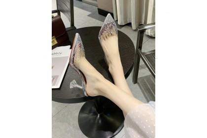 Fashionhomez 8157 Muller Transparent Heels 6.5cm & 9cm (size 35-43) - Plus Size
